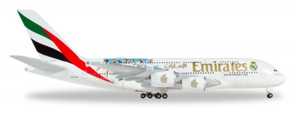 """531931 - Herpa - Emirates  Airbus A380 """"Real Madrid 2018"""" - 1:500"""
