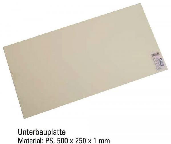 70650 - Rietze - Unterbauplatte zum Höhenausgleich - Maße: 500 x 250 x 1 mm, Material: PS
