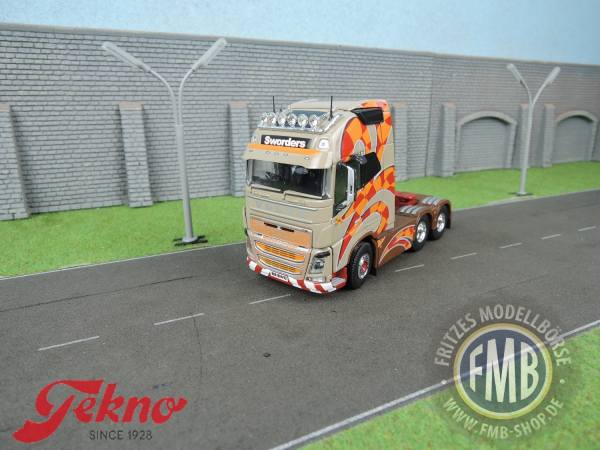 70943 - Tekno - Volvo FH04 GL XL 6x2 3achs Zugmaschine - Sworders - UK -