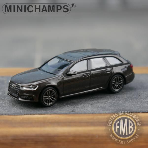 018111 - Minichamps - Audi A6 Avant S-Line (2014-18), braun metallic