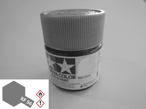 81356 - Tamiya - Acrylfarbe 23ml, metallic grau matt XF-56