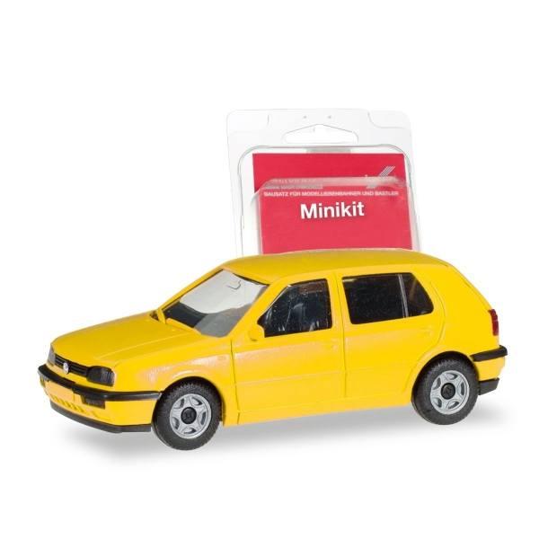 012355-007 - Herpa - MiniKit VW Golf III 4türig, gelb