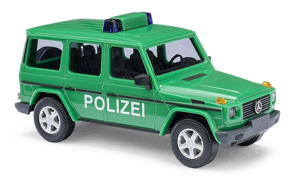 51410 busch mercedes benz g klasse w463 1990 polizei minzgr n busch modelle 1 87. Black Bedroom Furniture Sets. Home Design Ideas