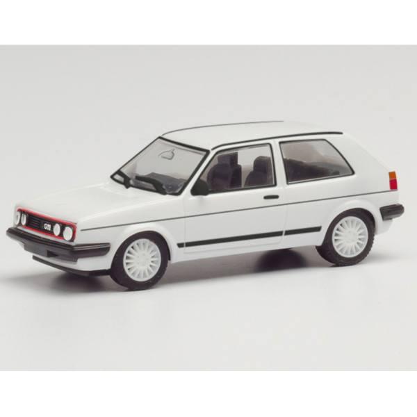 420846 - Herpa - Volkswagen VW Golf 2 / II GTI mit Sportfelgen - 2 türig, weiß