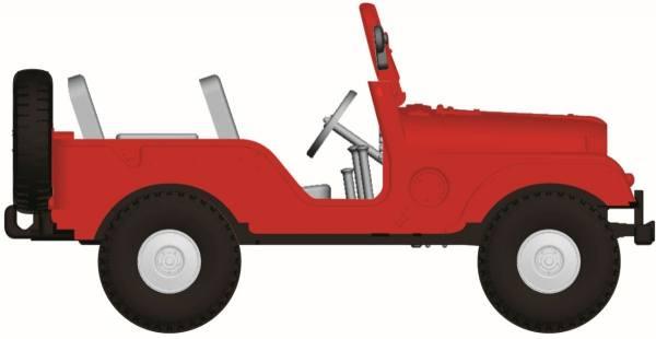 58904 - Brekina - Jeep Universal CJ5 offen, rot