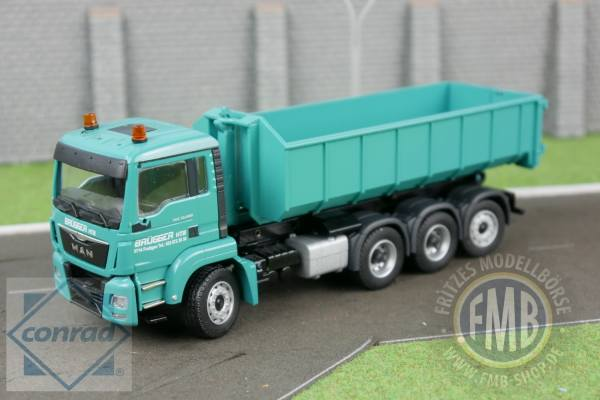 77217/04 - Conrad - MAN TGS M 4achs, 8x4  mit Meiller Abrollsystem - Brügger -