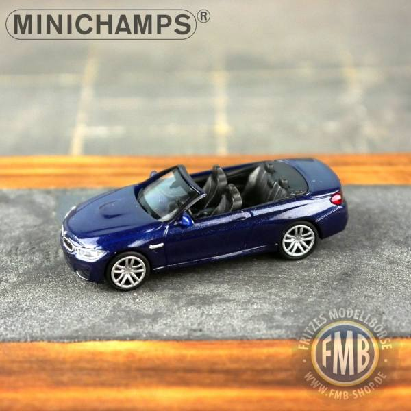 027232 - Minichamps - BMW M4 Cabrio (2015), blau metallic