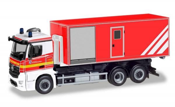 """094450 - Herpa - Mercedes-Benz Antos M Wechsellader-LKW """"Freiwillige Feuerwehr Norderstedt"""""""