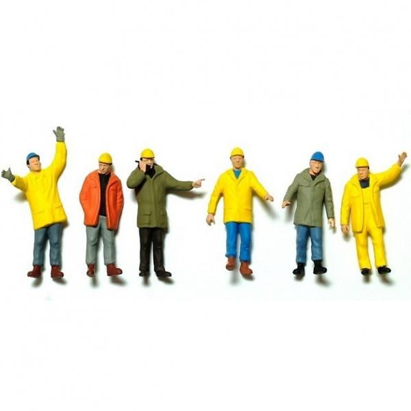 68214 - Preiser - Industrie Arbeiter - 6 Stück