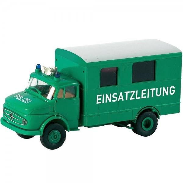 """94725 - Brekina - Mercedes-Benz L 322 Koffer """"Polizei - Einsatzleitung"""", minzgrün"""