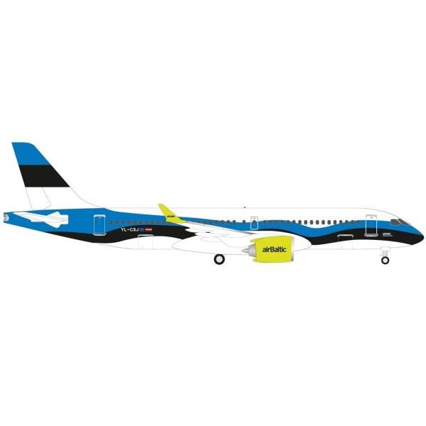 "533942 - Herpa - airBaltic Airbus A220-300 ""Estonia"""