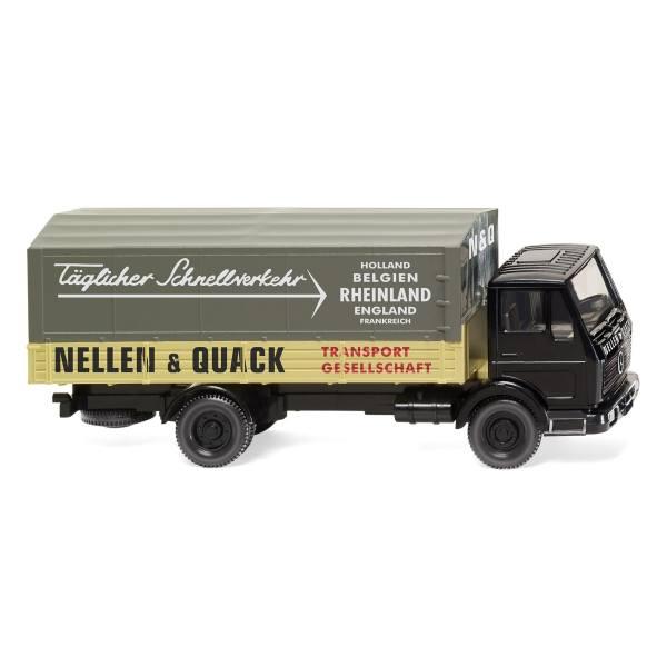 """043702 - Wiking - Mercedes-Benz NG Pritsche/Plane-Lkw """"Nellen & Quack"""""""