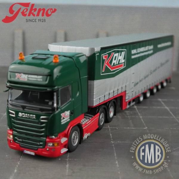 70983 - Tekno - Scania R-serie TL mit 5achs Meusburger Auflieger - Kahl - D -
