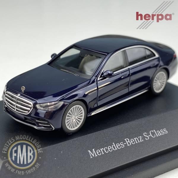 B66960629 - Herpa - Mercedes-Benz S-Klasse (V223), nautikblau metallic - PC