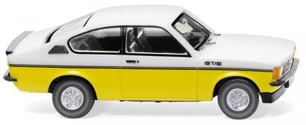022902 - Wiking - Opel Kadett C Coupe GT/E , weiß/gelb
