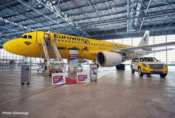 """612449 - Herpa - Eurowings  Airbus A320 """"Hertz 100 Years"""""""