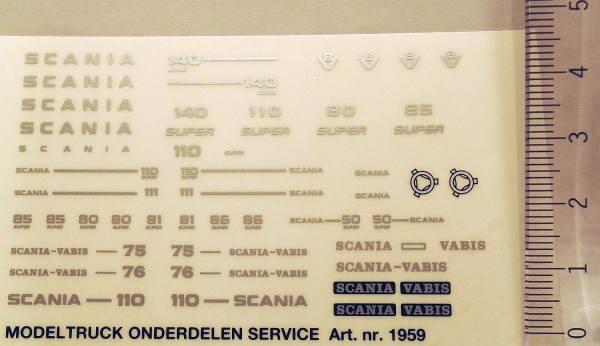 1959 - Sticker Set - Decals - Scania Vabis