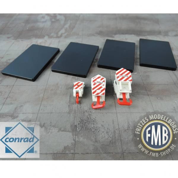99925/0 - Conrad -Set mit 3x Kranhaken und 4x Abstützmatten - Terex