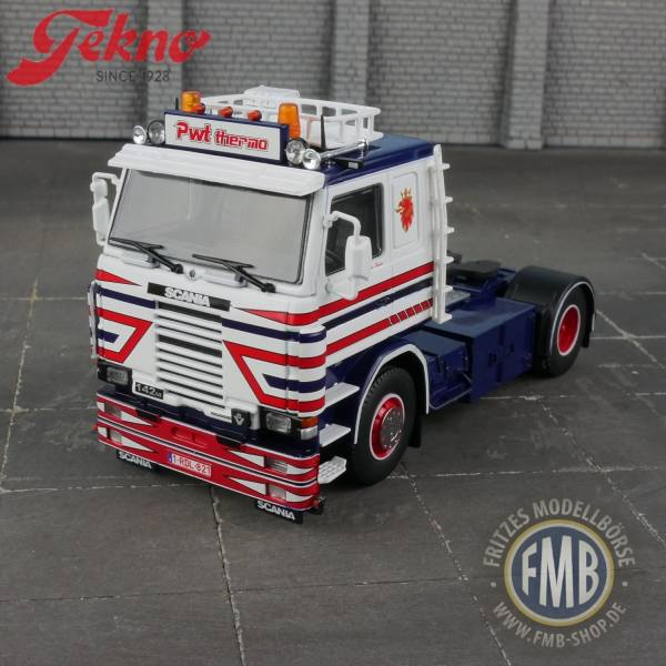 71590 - Tekno - Scania 142M 2achs Solo-Zugmaschine 4x2 - Peter Wouters - BE -