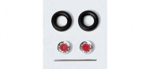 052016 - Herpa - Reifen für Auflieger/Hänger -chrom rot-