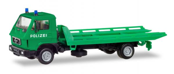 094146 - Herpa Basic - MAN G90 Plateau-Abschleppfahrzeug - Polizei