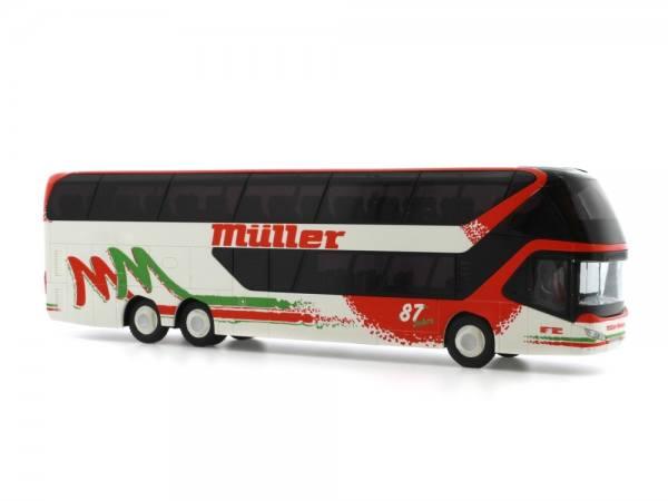 """69029 - Rietze - Neoplan Skyliner `11 Doppelstock-Reisebus """"Müller Reisen, Pforzheim"""""""