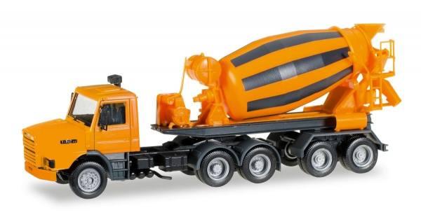307062 - Herpa - Scania 142 Hauber Betonmischer-Sattelzug, orange