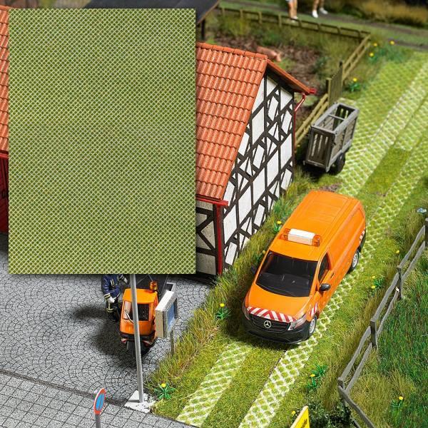 7430 - Busch - 3D Dekoplatte - 1 Stück - Rasengittersteine - 200 x 140mm
