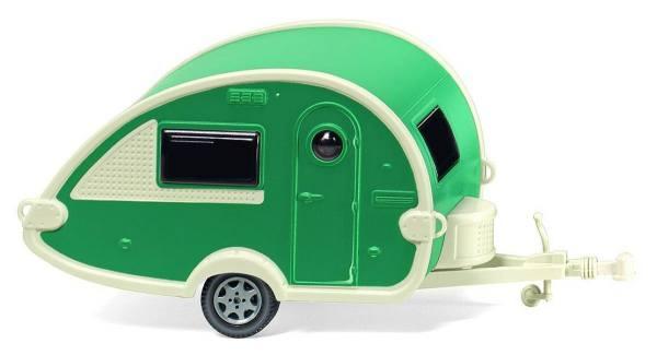 009238 - Wiking - Tabbert T@B Wohnwagen, grün/perlweiß