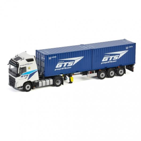 01-3328 - WSI - Volvo FH4 GL 4x2 mit Contianerauflieger + 2x20ft Container - Group GTS - B -