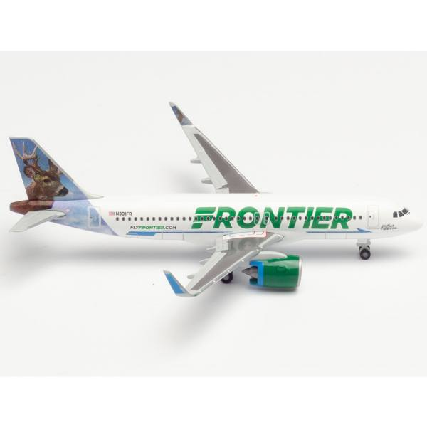 """534833 - Herpa Wings - Frontier Airlines Airbus A320neo """"Wilbur the Whitetail"""""""