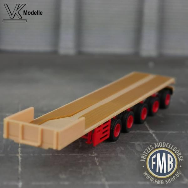 02581 - VK Modelle - Ballastauflieger 5achs - ES-GE - beige/rot