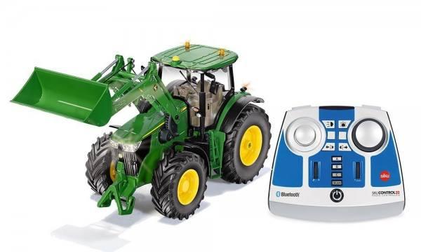 6795 - Siku - John Deere 7310R Traktor mit Frontlader - bluetooh Control