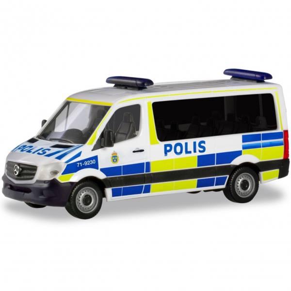 """094719 - Herpa - Mercedes-Benz Sprinter `13 Bus Flachdach """"Polis Schweden"""""""