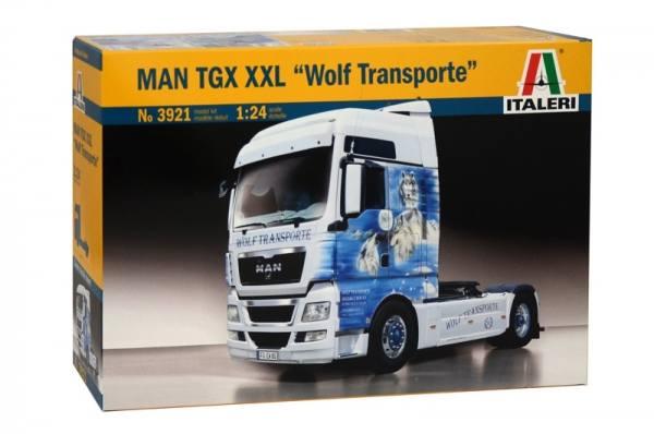 3921 - Italeri - Bausatz -MAN TGX XXL 2achs Zugmaschine, mit Decals - 1:24