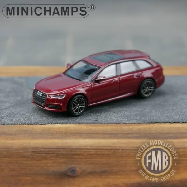 018114 - Minichamps - Audi A6 Avant S-Line (2014-18), matadorrot metallic