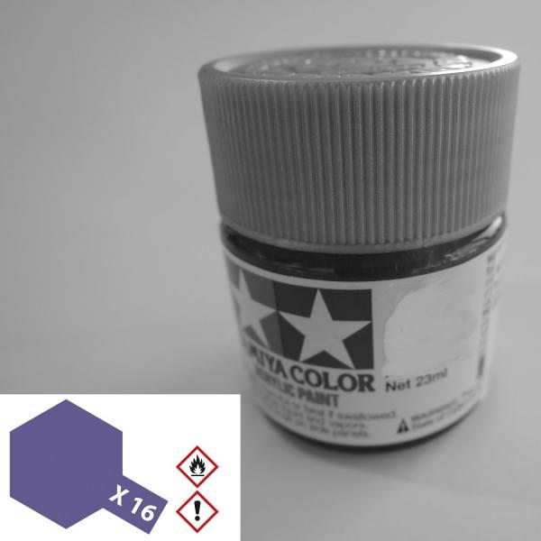 81016 - Tamiya - Acrylfarbe 23ml, violet glänzend X-16