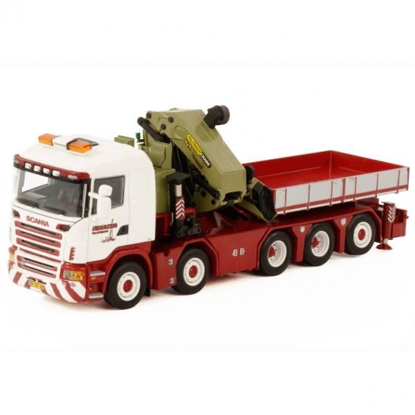 01-3515 -WSI - Scania R5 Flachbett 10x4 mit Palfinger PK150002 SH+Jib - Jenniskens Kraanverhuur-NL-
