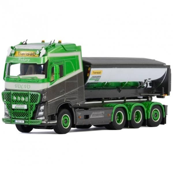 01-2965 - WSI - Volvo FH4 Globetrotter 8x4 Tridem-Abroller mit Asphaltmulde - Hakarps Schakt - S