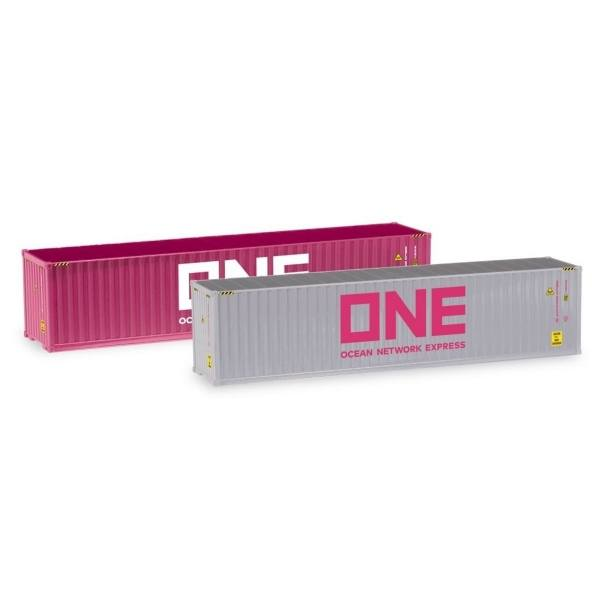 """076449-005 - Herpa - Container-Set 2x 40ft. """"ONE / ONE"""""""