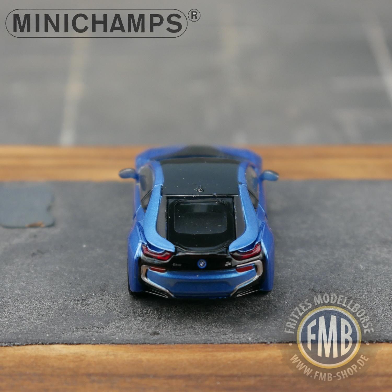 2015 - 870 028224-1:87 blau met Minichamps BMW i8 Coupe