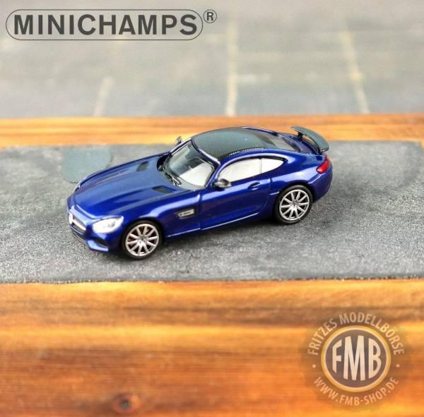 037124 - Minichamps - Mercedes-Benz AMG GT-S (2015), blau metallic