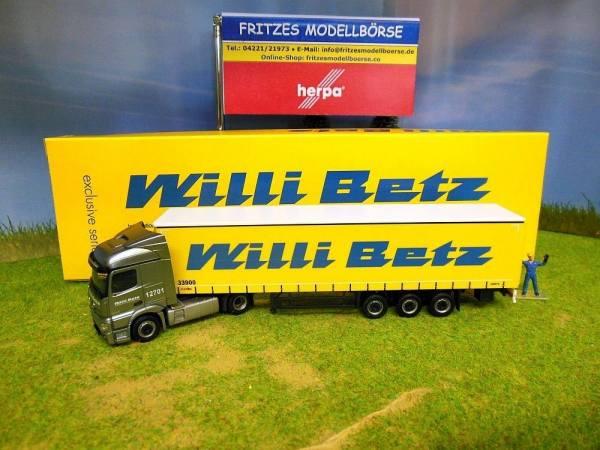 "12701 - Herpa - Mercedes-Benz Actros StreamSpace Gardinenplanen-Sattelzug ""Willi Betz"" CZ"