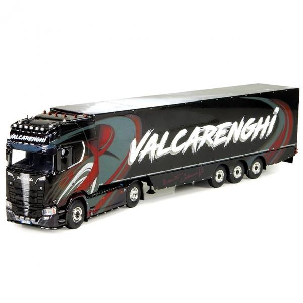 73491 - Tekno - Scania S -Serie mit 3achs Kühlauflieger - Bruno Valcarenghi - I -