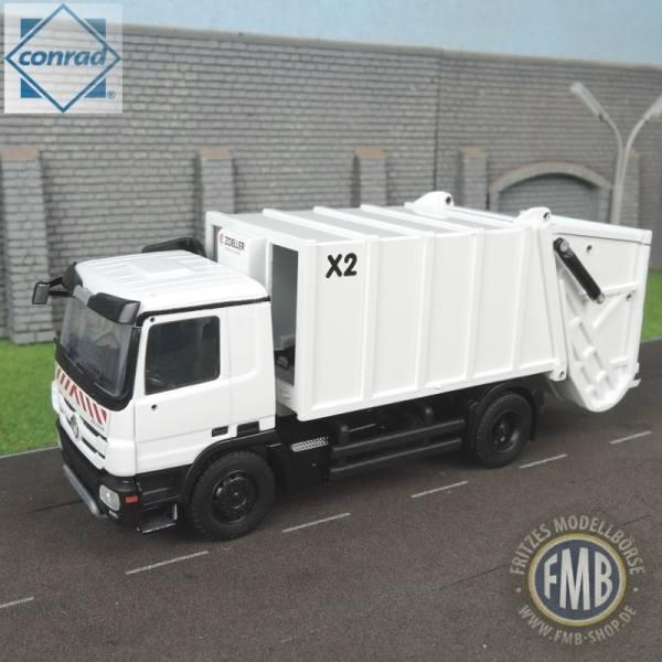 7239/01 - Conrad - Mercedes-Benz Actros MP3 Zoeller X2 Müllfahrzeug -weiß-