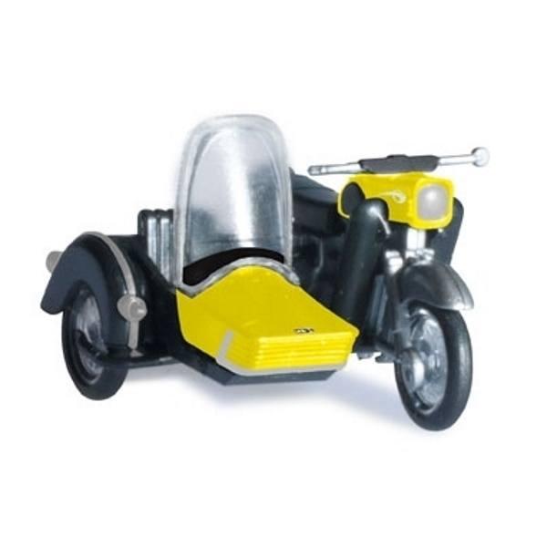 """053433-003 - Herpa - MZ 250 mit Beiwagen """"gelb/schwarz"""""""