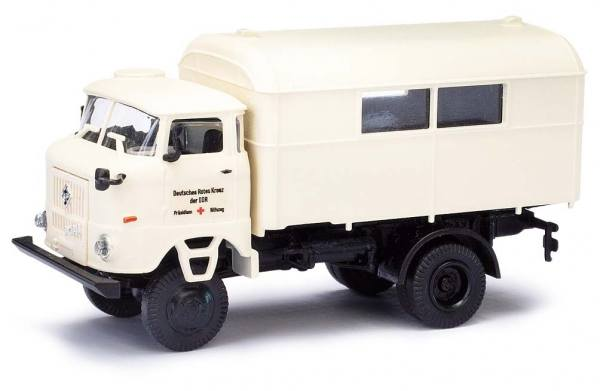 95247 - Busch / EsPeWe - IFA W50 mit Koffer Präsidium Hilfszug, DRK, Baujahr 1973