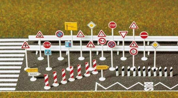 6027 - Busch - Verkehrszeichen - Set zur Gestaltung von Straßen