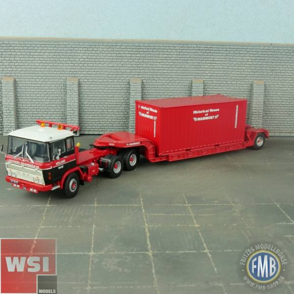 410332 - WSI - DAF 2600 6x4 NooteboomTieflader mit Container - van Seumeren / Mammoet