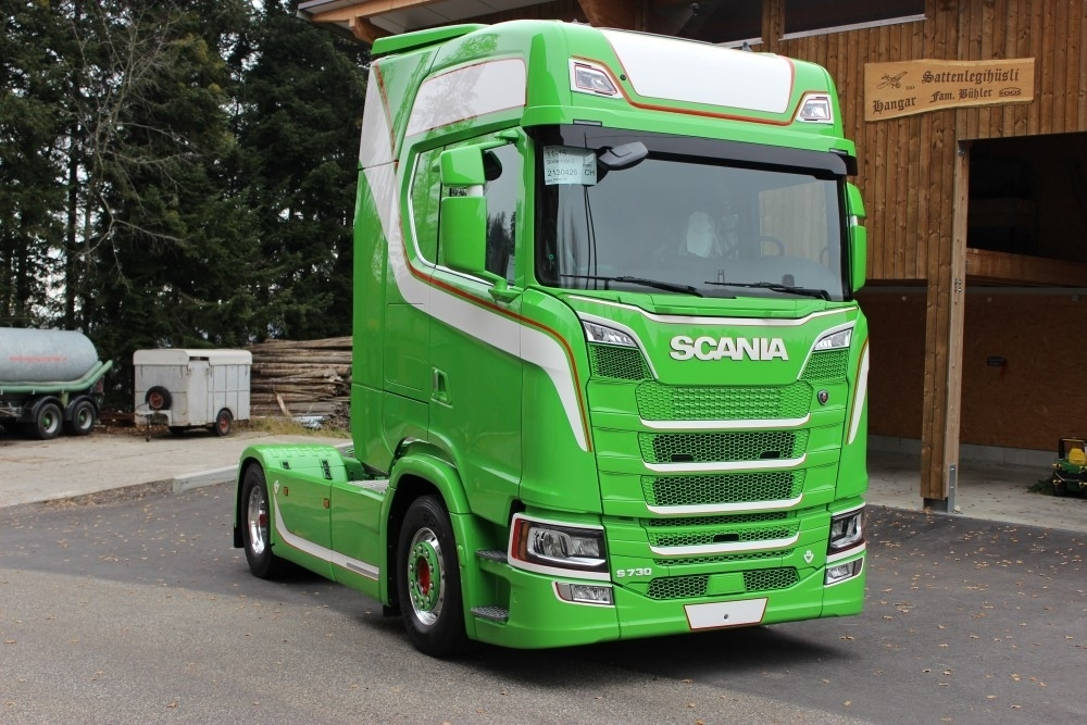 71310 - Tekno - Scania S730 with Cargo floor trailer - Urs Bühler - CH -